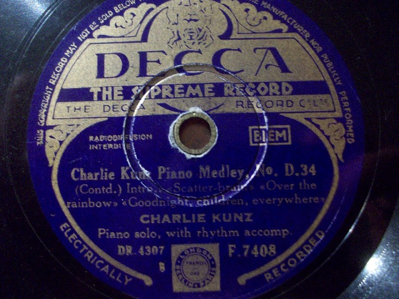 Charlie Kunz Medley Of Waltzes