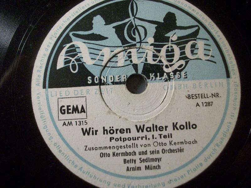 Otto Kermbach Ball-Orchester* Das Orchester Otto Kermbach - Es Geht Nicht Über Die Gemütlichkeit